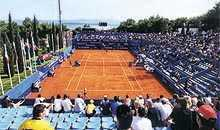 Tennis courts in Bol, Croatia
